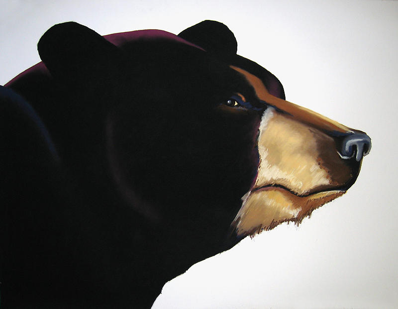 Black Bear Painting - Bruce by Brenda Wolf