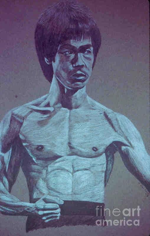 Bruce Lee Drawing - Bruce by Dan Hausel