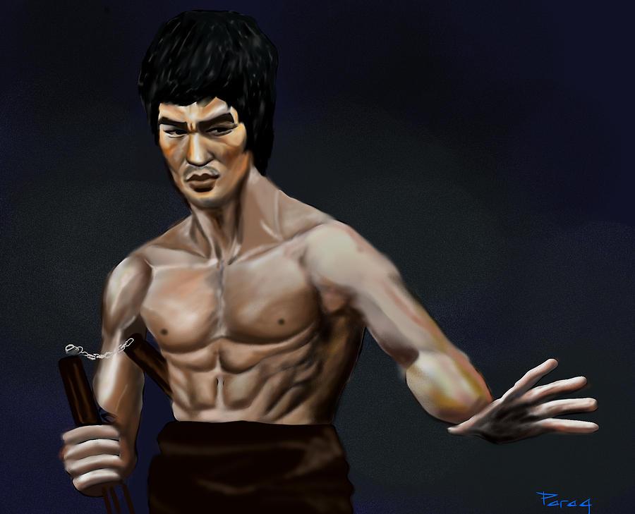 Bruce Lee Digital Art - Bruce Lee by Parag Pendharkar
