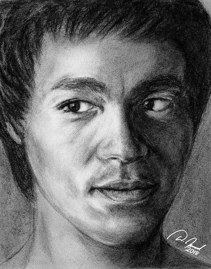 Bruce Lee Drawing - Bruce Lee by Walter Israel