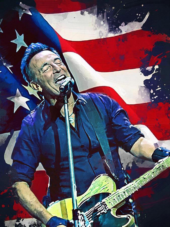 Bruce Springsteen Digital Art - Bruce Springsteen by Afterdarkness