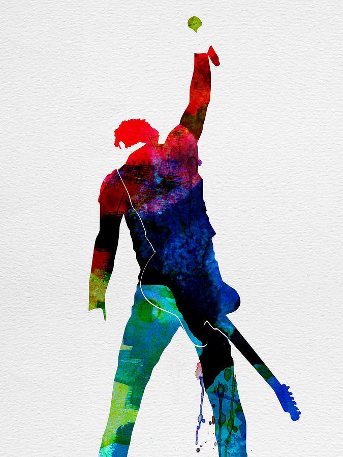 Bruce Springsteen Painting - Bruce Watercolor by Naxart Studio