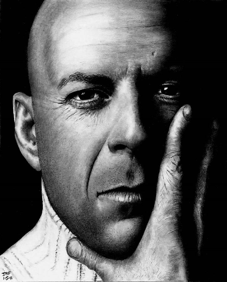 Bruce Willis Drawing - Bruce Willis by Rick Fortson