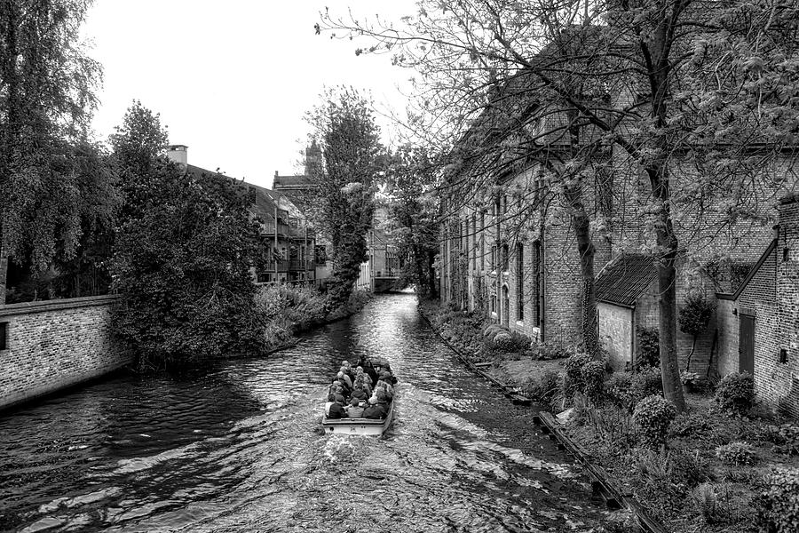 Belgium Photograph - Bruges Bw4 by Ingrid Dendievel