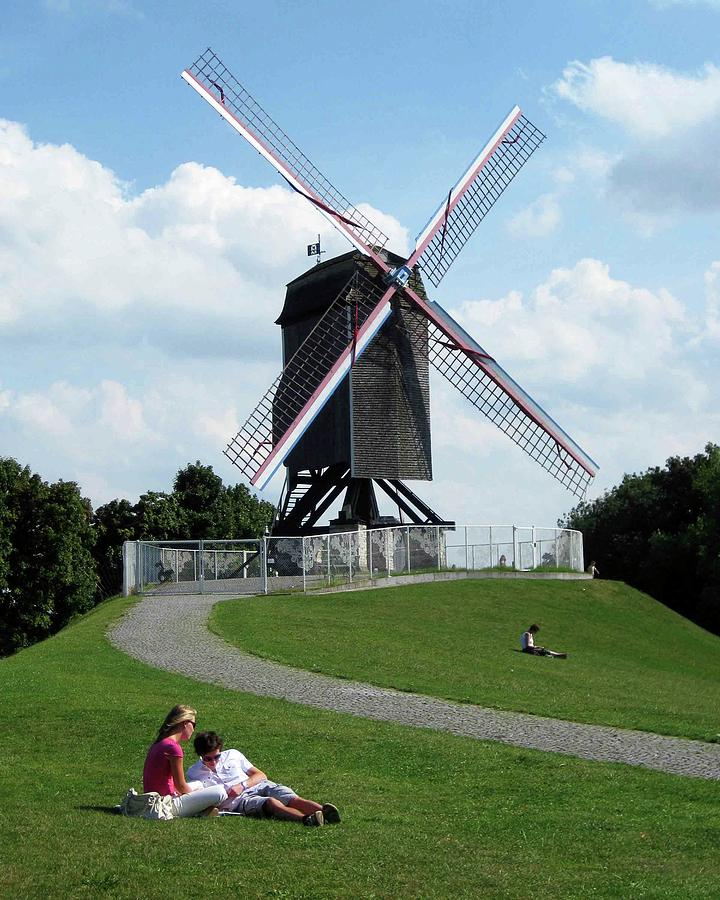Bruges Photograph - Bruges Windmill by David L Griffin