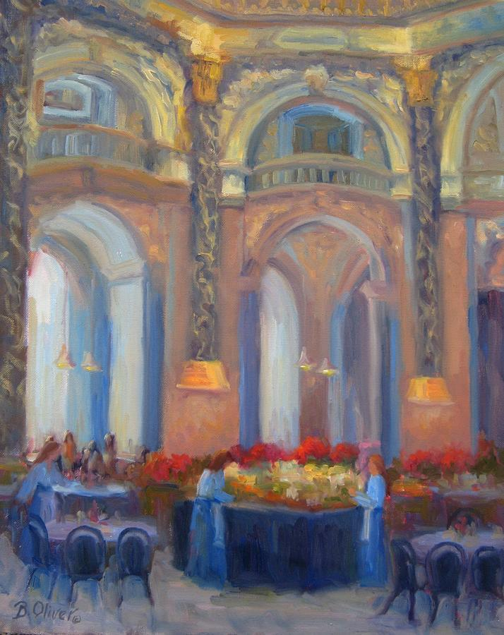 Art Museum Painting - Brunch At The Museum by Bunny Oliver
