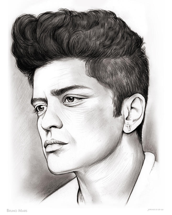 Bruno Mars Free Coloring Pages