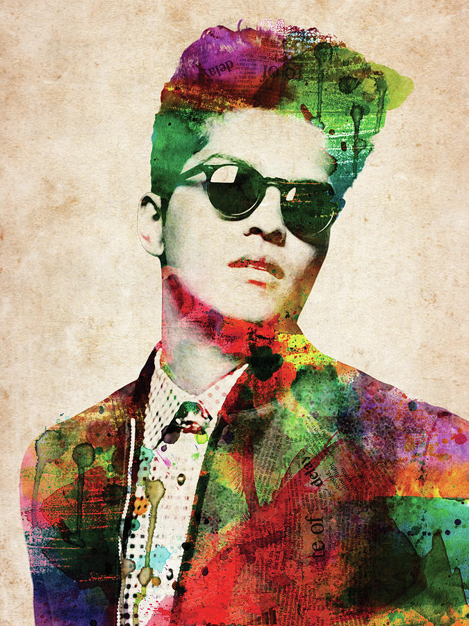 Bruno Mars Digital Art