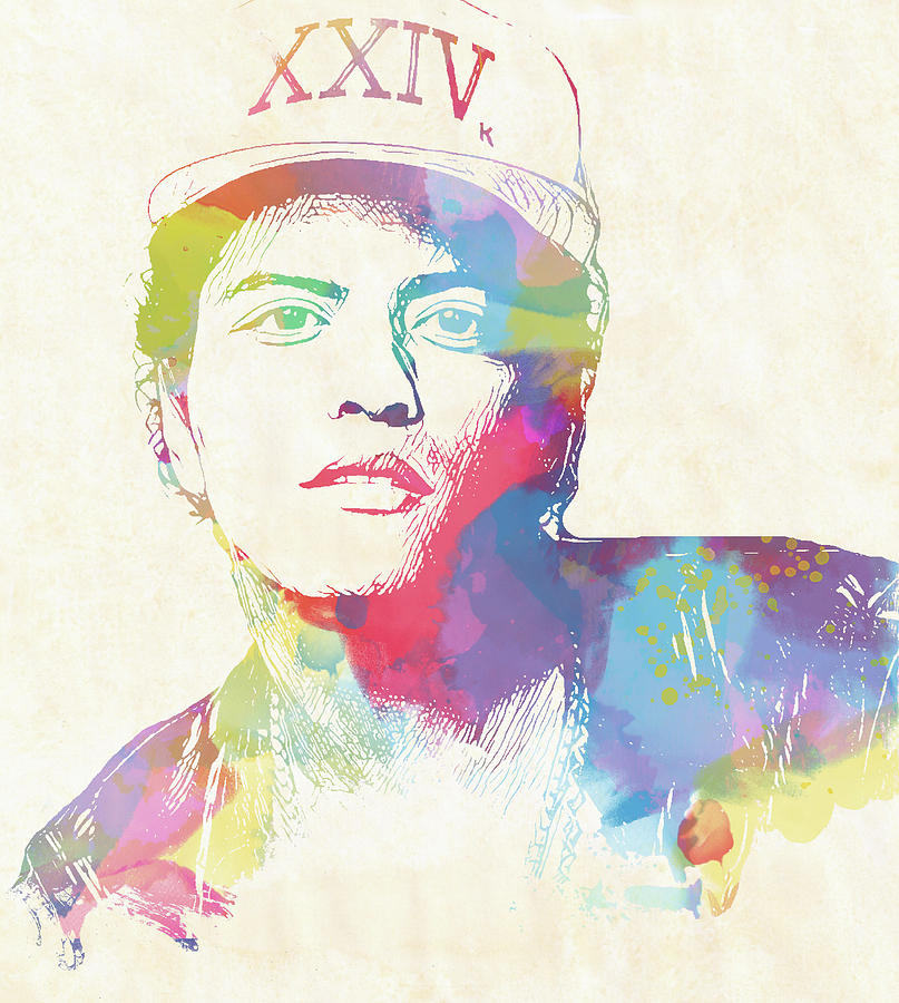 f91b3fd30ab Bruno Mars Watercolor Painting by Dan Sproul