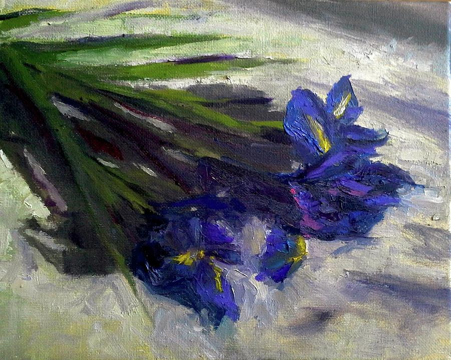 Brush Flowers #1 Painting by Brian Kardell