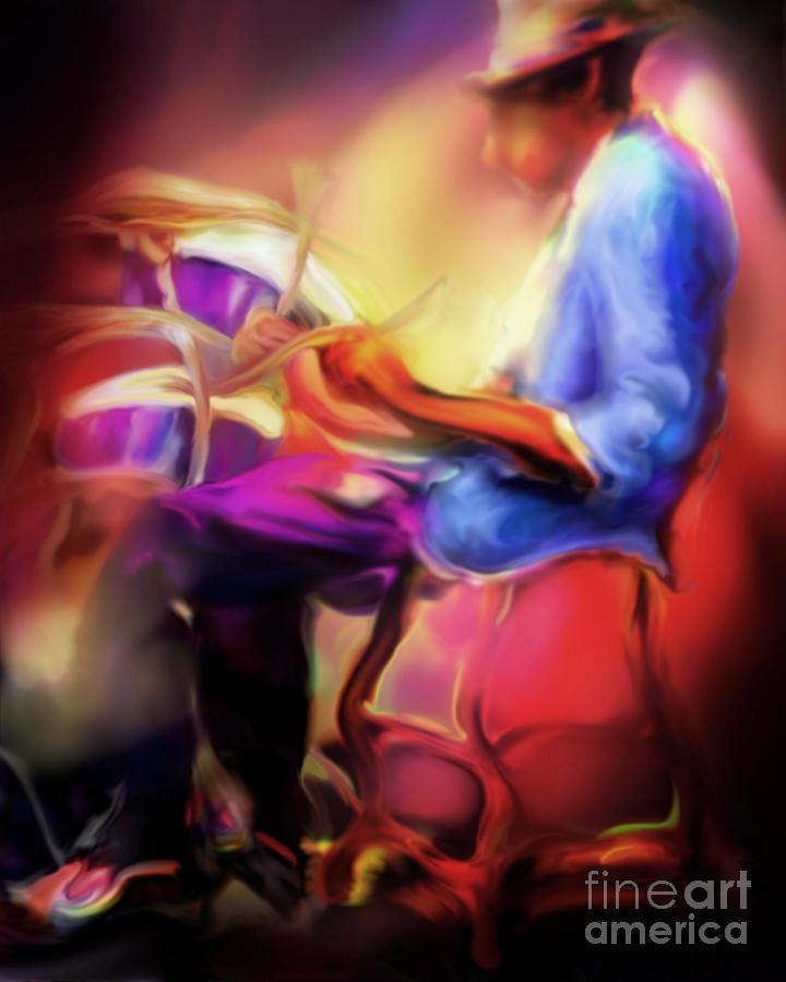 Jazz Artwork Painting - Brush Work by Mike Massengale
