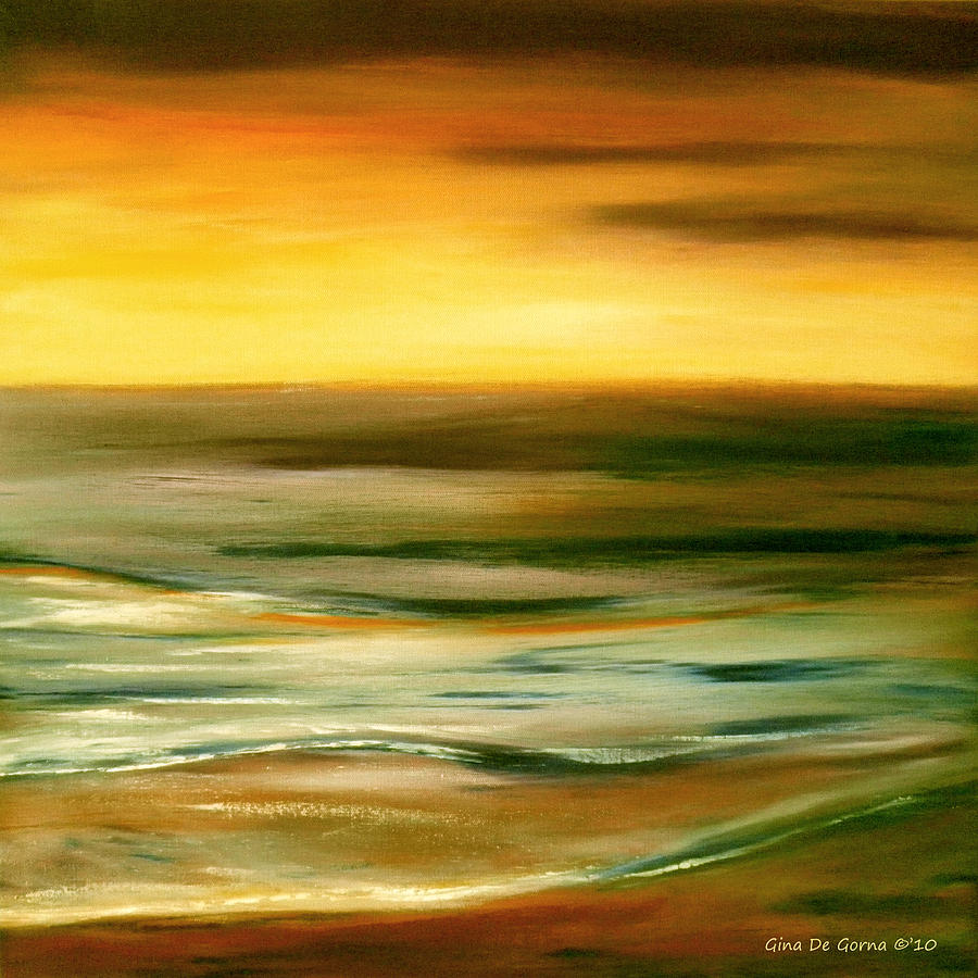 Abstract Painting - Brushed 7 by Gina De Gorna