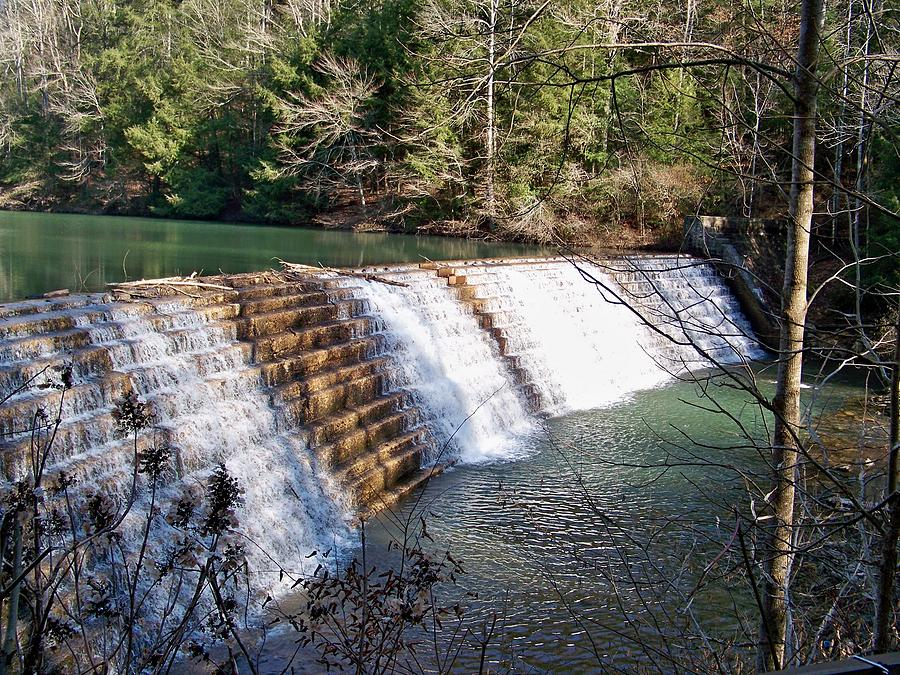 Brushy Lake Waterfall Photograph by Chuck Sparks