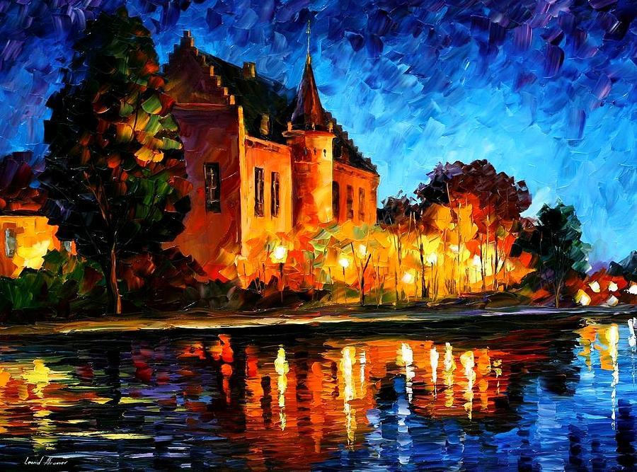 Afremov Painting - Brussels - Castle Saventem by Leonid Afremov