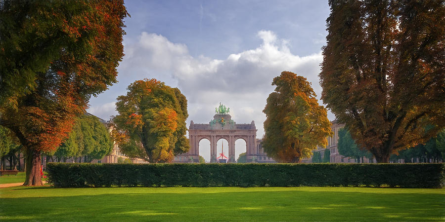 Joan Carroll Photograph - Brussels Park by Joan Carroll