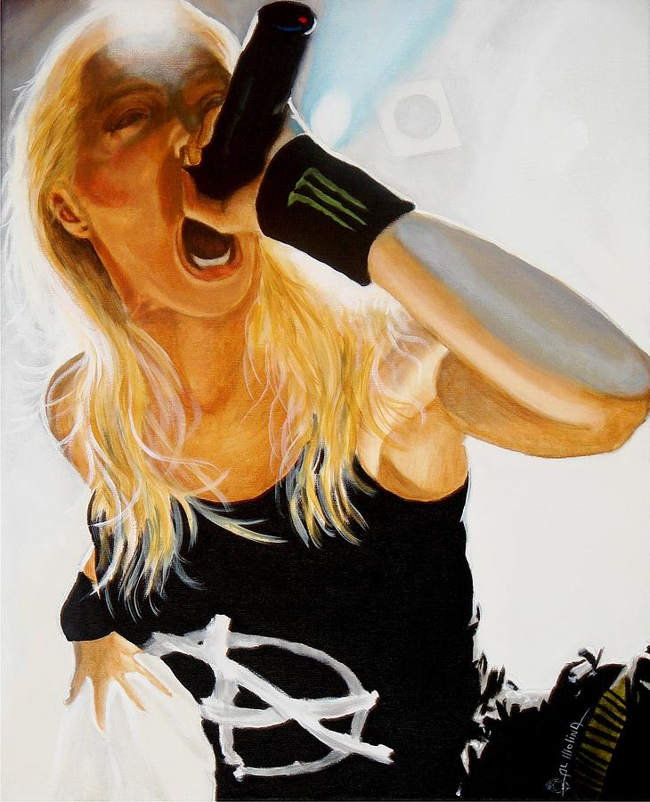 Heavy Metal Painting - Brutal Metal Queen by Al  Molina
