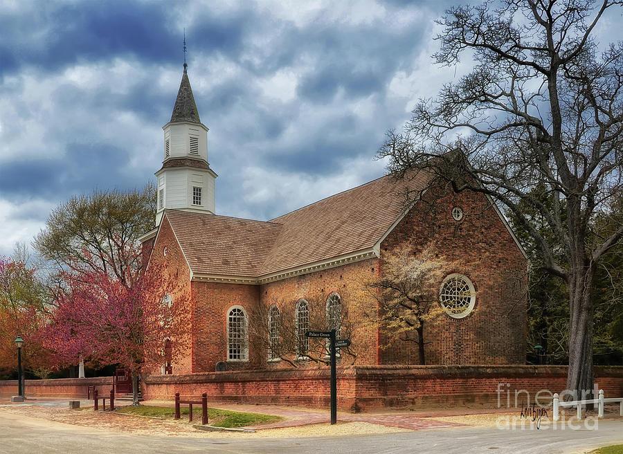 Williamsburg Photograph - Bruton Parish Church by Lois Bryan