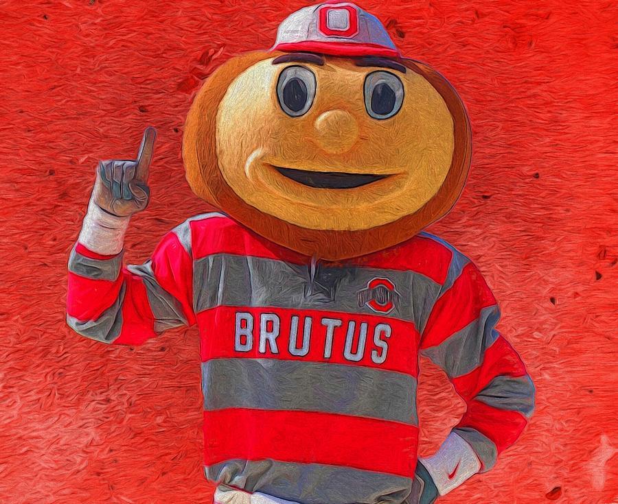 Brutus The Buckeye Painting
