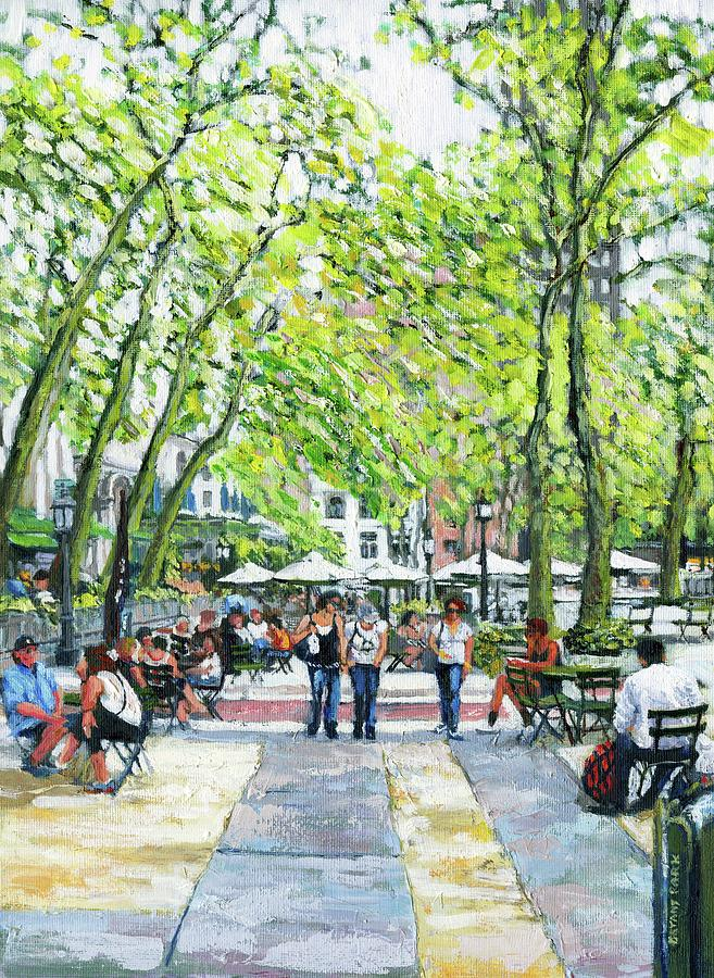 Bryant Park Painting - Bryant Park Nyc by Thomas Michael Meddaugh