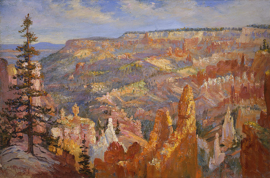Landscapes Painting - Bryce Canyon by Lewis A Ramsey