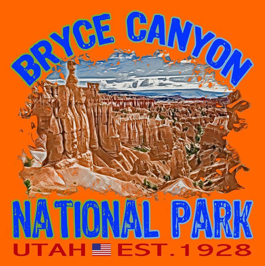 Bryce Canyon National Park Digital Art - Bryce Canyon National Park by David G Paul
