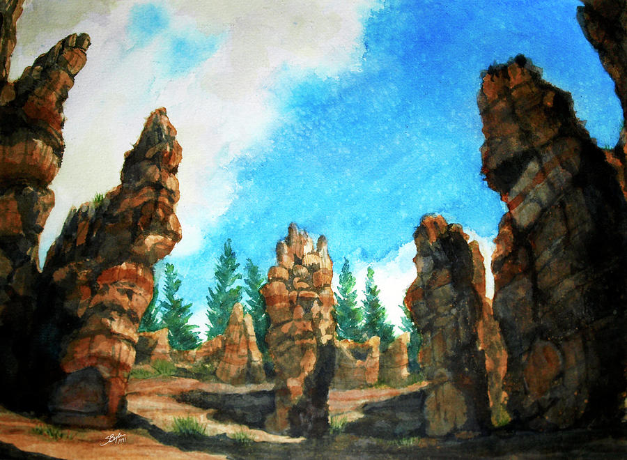 Stephen Boyle Painting - Bryce Canyon by Stephen Boyle