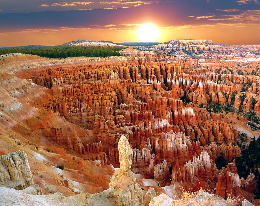 Bryce Canyon's Inspiration Point by Mitchell R Grosky
