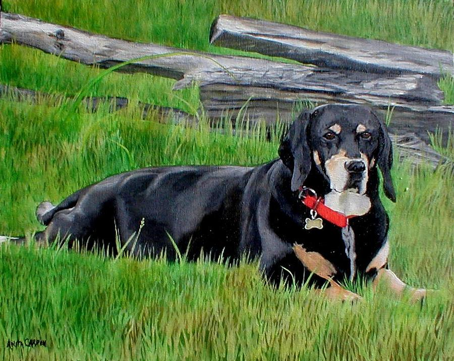 Dog Painting - Bubba by Anita Carden
