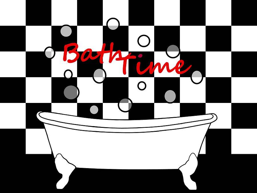 Claw Foot Tub Digital Art   Bubble Bath   Bathroom Decor By Kathleen  Sartoris