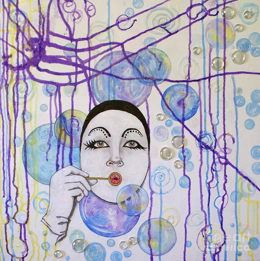 Mime Mixed Media - Bubble Dreams by Jane Chesnut