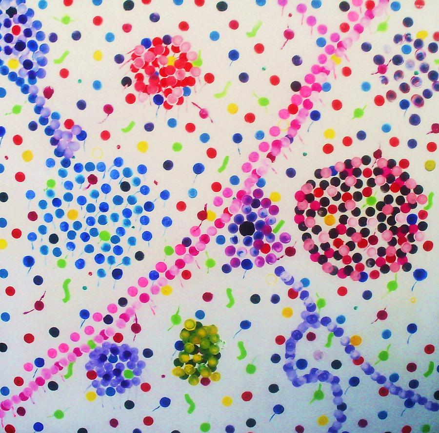 Tart Painting - Bubble Gum by HollyWood Creation By linda zanini