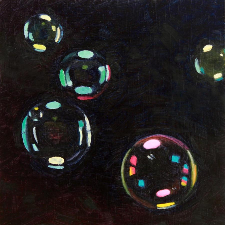 Bubbles Painting - Bubble Study 01 by Guenevere Schwien
