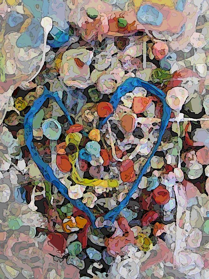 Bubblegum Digital Art - Bubblegum Love by Tim Allen