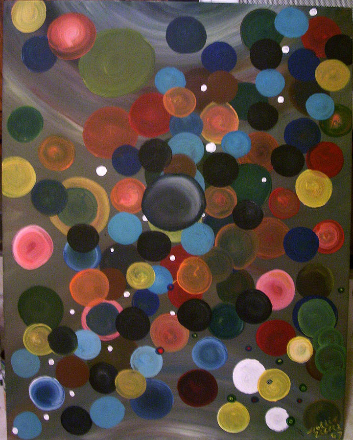 Bubbles Painting - Bubbles In The Sky by Hollie Leffel