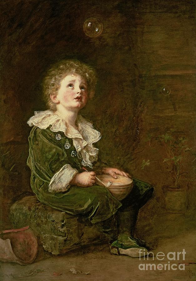 Bubble Painting - Bubbles by Sir John Everett Millais