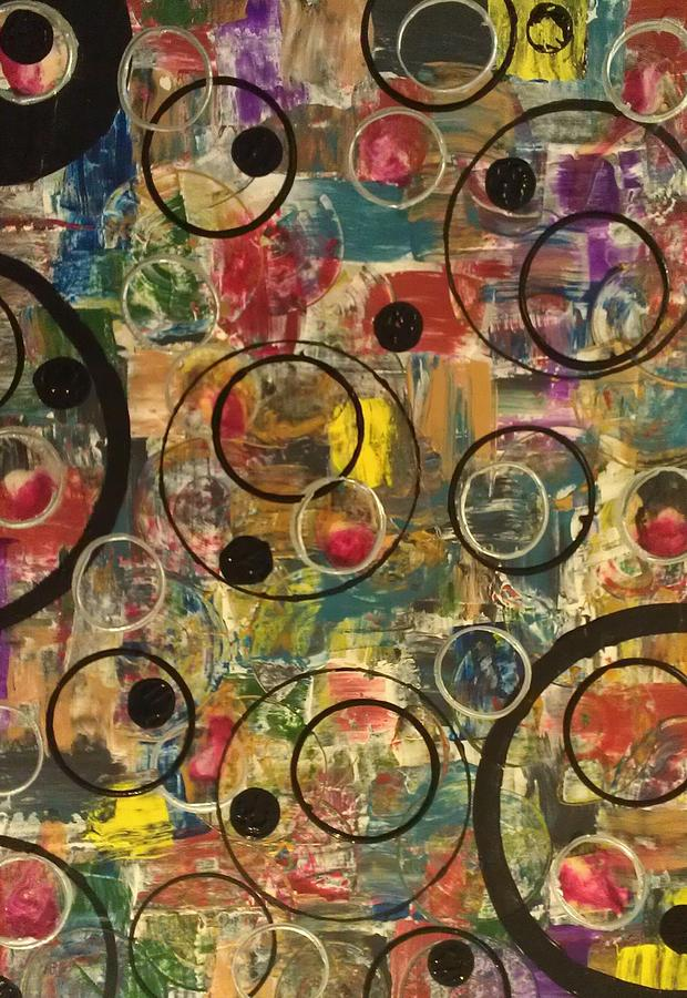 Abstract Painting - Bubbles by Sonya Wilson