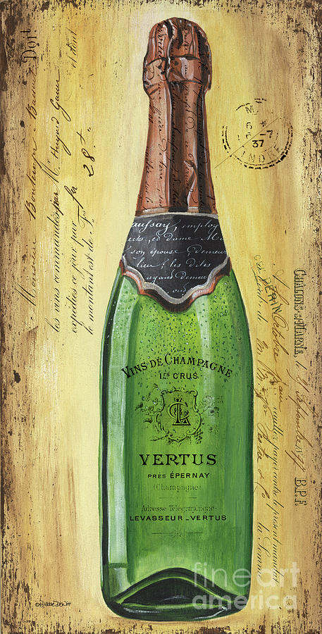 Alcohol Painting - Bubbly Champagne 2 by Debbie DeWitt