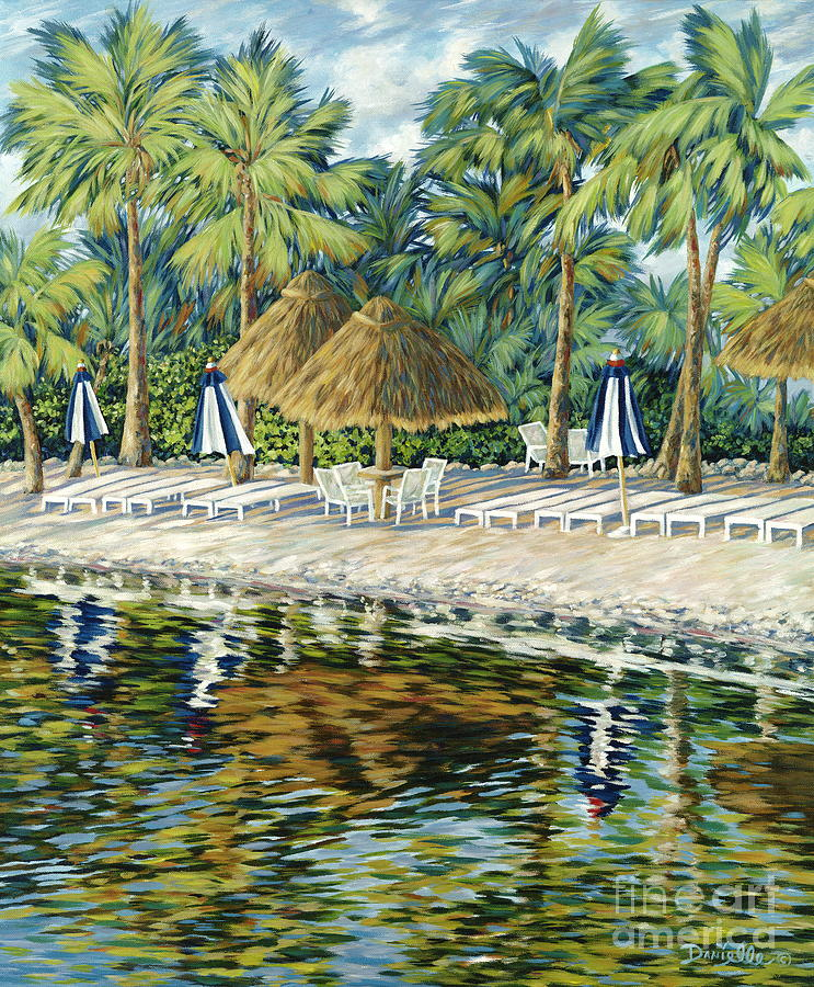 Key Largo Painting - Buccaneer Island by Danielle  Perry