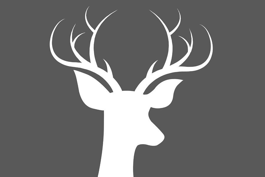 Buck Deer Digital Art - Buck Deer by Chastity Hoff