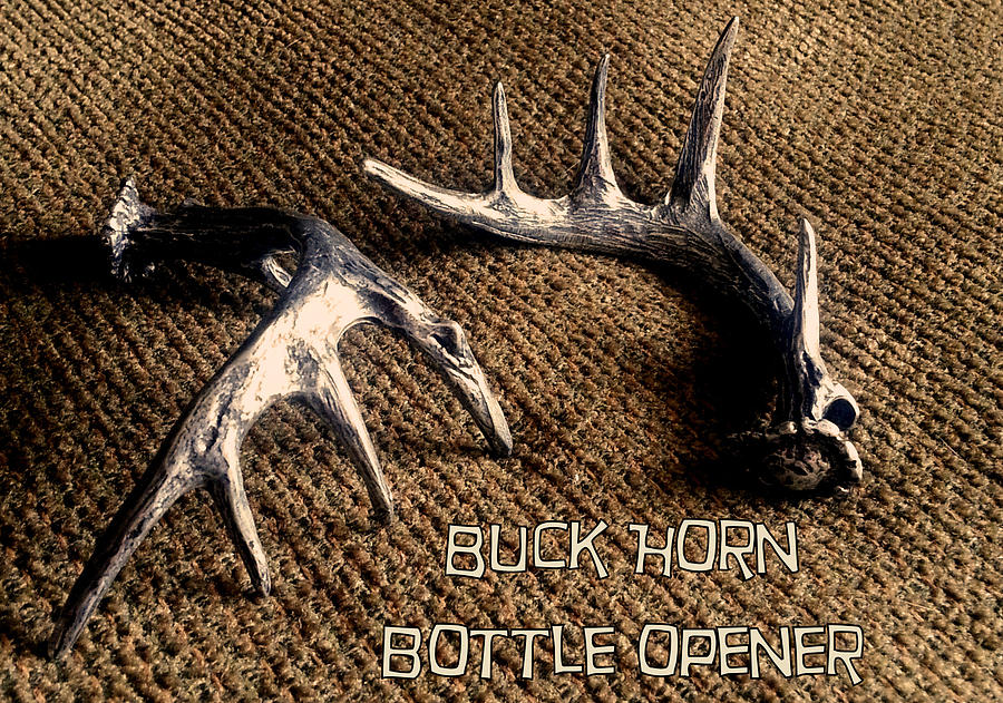 Buck Horn Bottle Opener by Tim  Joyner