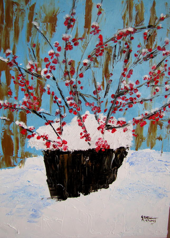 Red Painting - Bucket of Berries by Jenell Richards