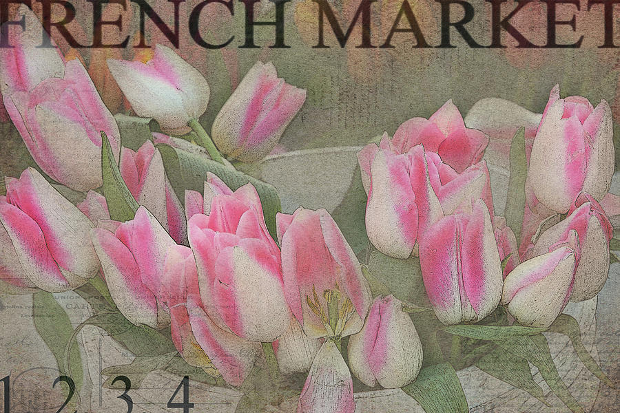 Tulips Photograph - Bucketfull by Rebecca Cozart