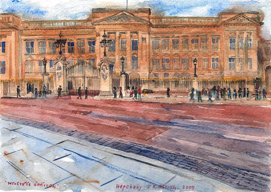 Buckingham Painting - Buckingham Palace London. by Hopebaby Pradit