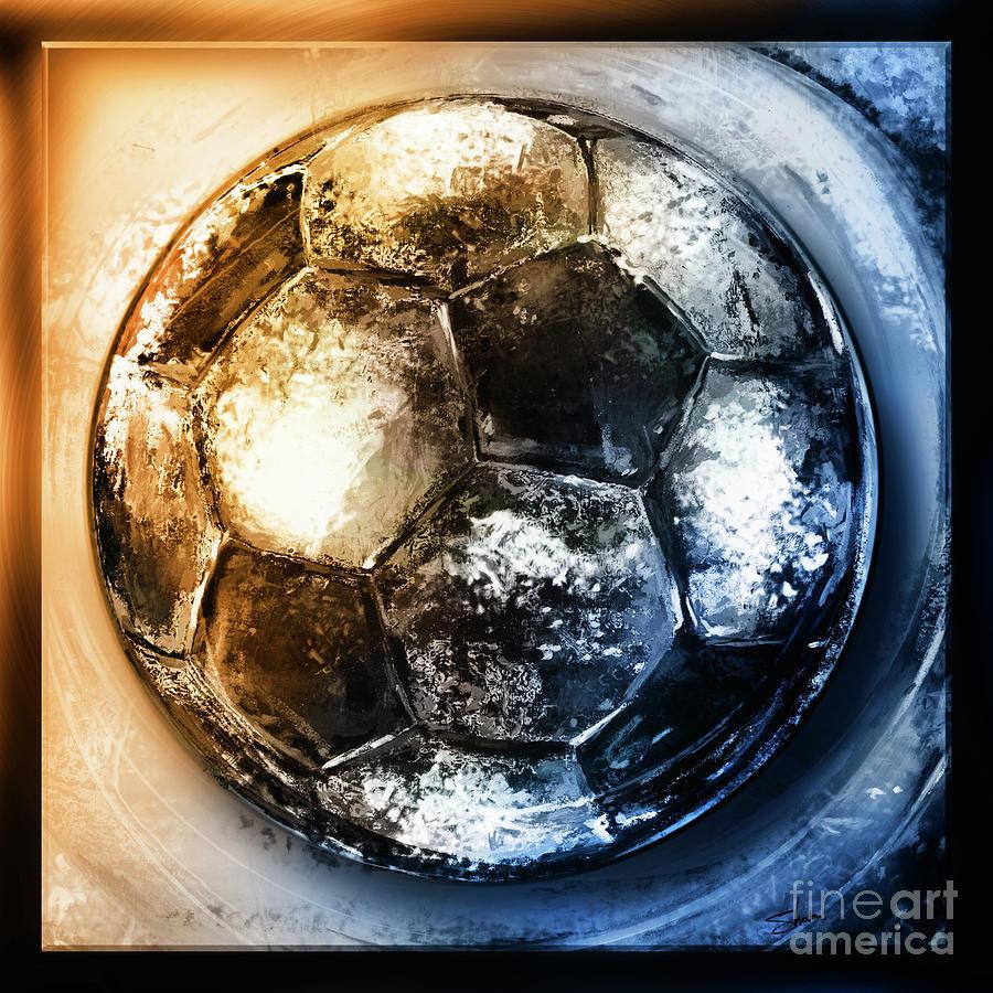 American Youth Soccer Organization Mixed Media - Buckminster-2 by Shevon Johnson