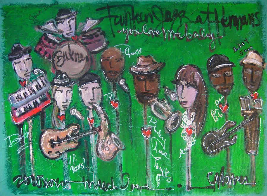 Jazz Painting - Buckner Funken Jazz by Laurie Maves ART