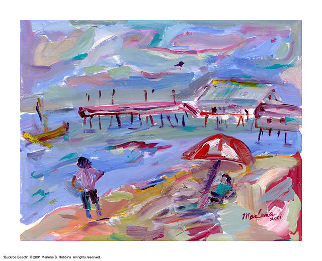 Beach Painting - Buckroe Beach by Marlene Robbins