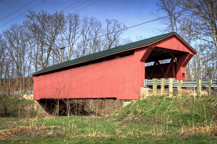 Buckskin Covered Bridge Photograph