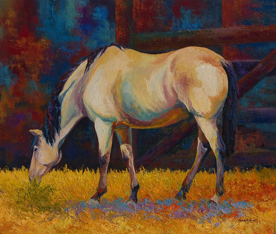 Horses Painting - Buckskin by Marion Rose
