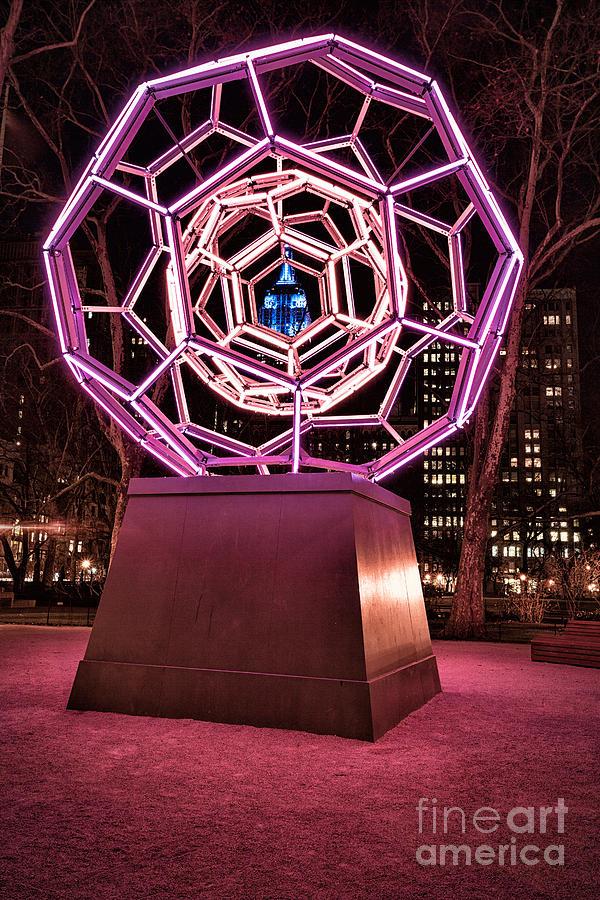 Art Installation Photograph - bucky ball Madison square park by John Farnan