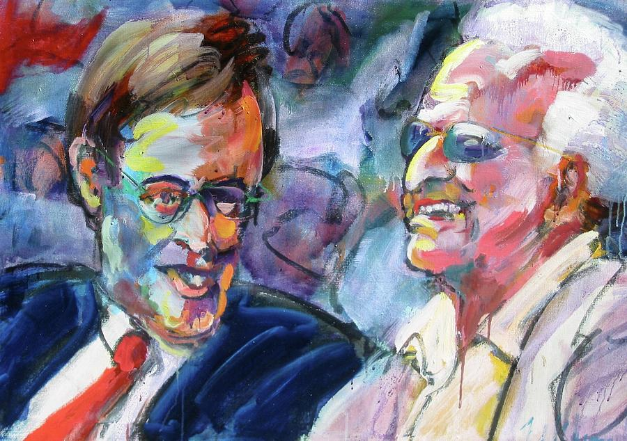 Portraits Painting - Bud And Bob by Les Leffingwell